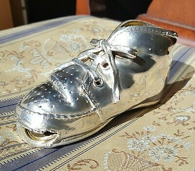 RARE BEAUTIFUL ANTIQUE SOLID SILVER LARGE LACED SHOE PIN CUSHION? c1920