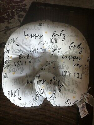 Boppy Newborn Hello Baby Lounger Pillow White Black and Gold (JM)
