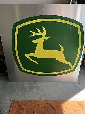 """John Deere Advertising Sign 48"""" X 48"""" LOCAL PICK UP ONLY"""