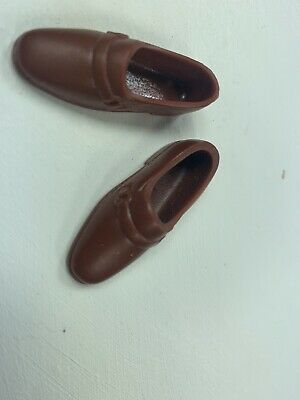 Brown Loafers Shoes Taiwan 1970s Vintage Ken Doll