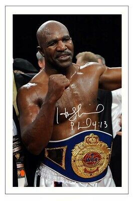 Evander Holyfield Signed Photo Print Autograph Boxing