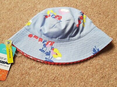 Joules Boys Reversible SunHat BNWT Age 4-7 Years