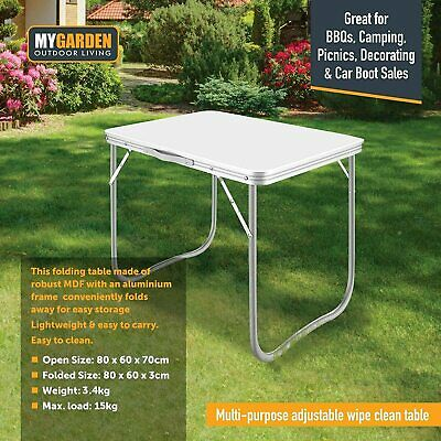 2.6 Ft Folding Camping Table Aluminium Picnic Portable  Party Bbq Outdoor