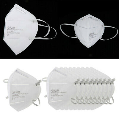 10pcs KN95 Face Mask Disposable Mouth Guard Cover Anti-Dust Face Masks Filter