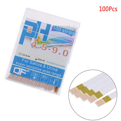 100 PH indicator test strips 4.5-9paper litmus tester laboratory urine&salivH 9K
