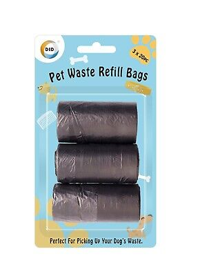 Dog Poo Bags Waste Strong Biodegradable Refill Refuse Black