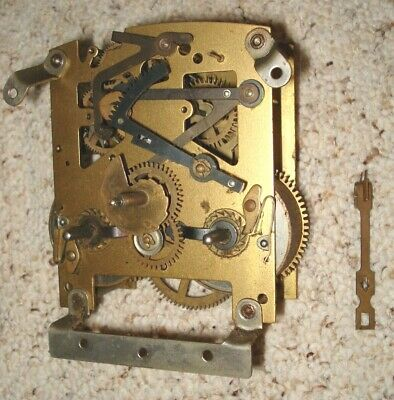 Enfield (England) Time & Strike  Mantel Clock Movement For Parts Or Repair