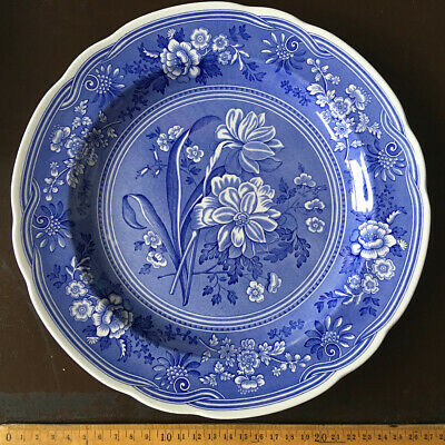 Spode England Blue Room Collection Botanical first introduced c.1820 Teller 22cm