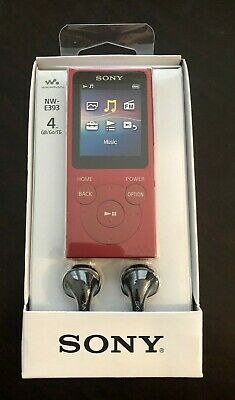 Sony Nw-E393 Walkman Mp3 Player With Fm Radio 4Gb Red – New In Box