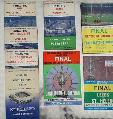 Collection Rugby League Challenge Cup Finals Programmes