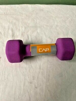 CAP Hex Neoprene Five 5 lb Pound Dumbbell SINGLE  Weight NEW Workout Gym