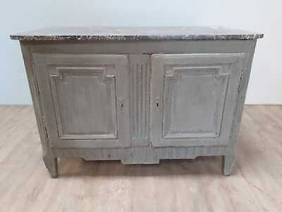 French painted buffet with marble top 19th Century