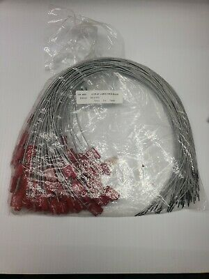 """100ct 1/16"""" Adjustable Cable Seals CL99-24"""" PRINTED SEALED numbered"""