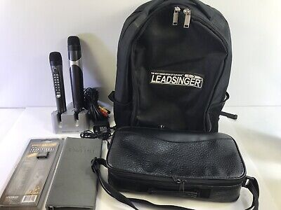 Leadsinger Karaoke Microphone & Wireless Sub-mic w/ Accessories Lot LS-3700