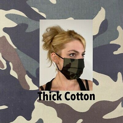 Camo Camouflaged Cotton Face Mask Handmade Washable Reusable wire nose Reuse