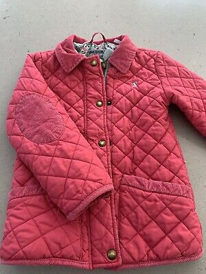 Girls Joules Age 6 Years Coat Pink Quilted Jacket