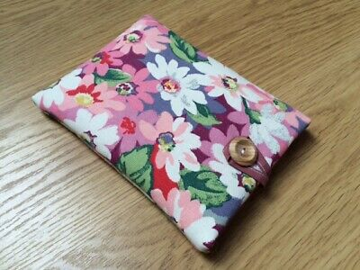 Handmade Book Cover Sleeve Pouch Made Using Cath Kidston Painted Daisy Fabric