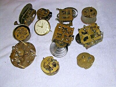 Clock  Parts,   Small Clock Movements  Parts  Only