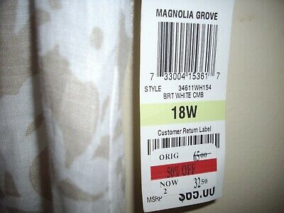 CHARTER CLUB WOMAN 18W (100%Linen) Brand New with Tags
