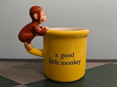 Curious George Mug with Banana inside HMCO 1997