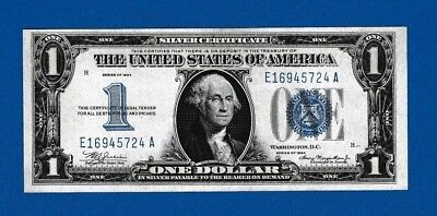 Fr.1606 $1 1934  SILVER CERTIFICATE FUNNY BACK SN E 16945724 A GEM UNCIRCULATED