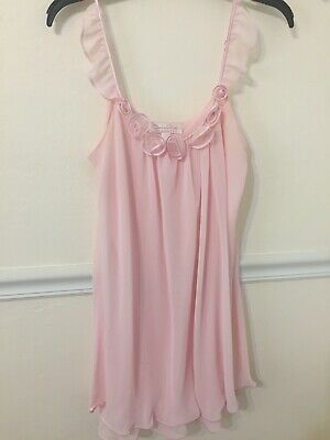 Womens light pink night gown,  Oscar de la Renta, sz;L  intimate apparel