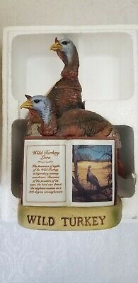 """1981 Porcelain """"Wild Turkey Keeness of Sight"""" Series II No. 3 Full Size Decanter"""