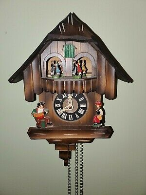 Vintage Cuckoo Clock Uhren Hauser  For Parts or Repair Only Good  parts