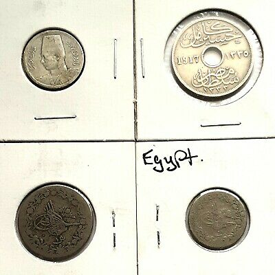 Lot Assorted World Coins From Egypt