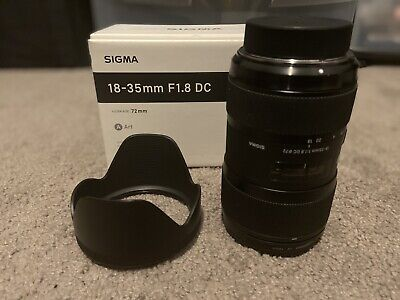 Sigma AF 18-35mm f1.8 DC HSM Art Lens Nikon Mount, used excellent