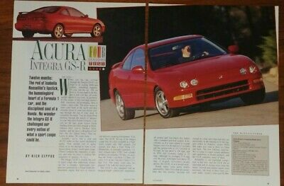 Acura Integra Gs-R Magazine Article Collectible Four Seasons Test Review