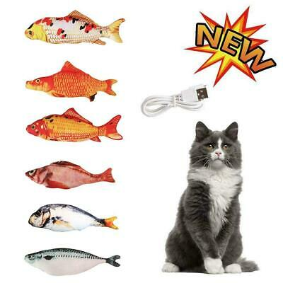Electronic Pet Cat Toy Electric USB Charging Simulation fish Toys-Moving T7T1