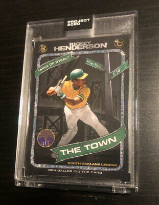 Topps PROJECT 2020 Card 71 Rickey Henderson Athletics by Ben Baller1980 PRESALE