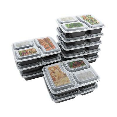 10pcs Meal Prep Food Containers Compartment Lunch Box Microwavable With Lids