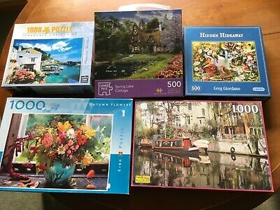 jigsaw puzzles assorted 500 pieces and 1000 pieces