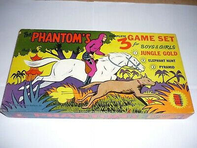 The Phantom Board Game 3 Game Set Rare Vintage Old Nm Condition
