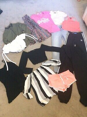 Girls summer clothes bundle age 12-13 (size 4/6) Adidas, New Look, Top Shop VGC