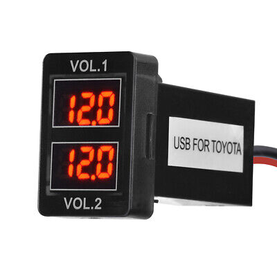 Dual Battery Volt Meter for Toyota Kluger Highlander 2008 Onwards MA2013