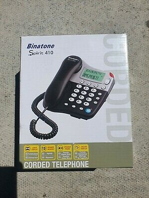 Binatone 410 Spirit Corded Caller ID Land line Phone with Number Memory
