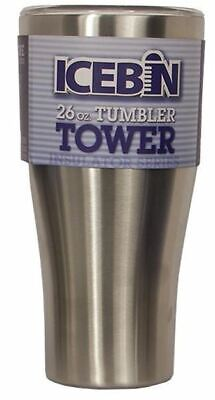 Icebin 26oz Tumbler with Lid. No sweat, drip or drool. Double wall insulation.