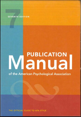 Publication Manual of the American Psychological Association 7th Ed 2020 [P-D-F]