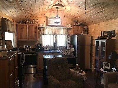 Country Cabin Tiny House 12 x 36 w/ Covered Porch