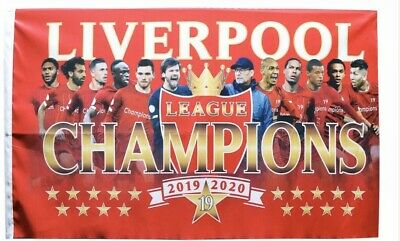 LIVERPOOL FC League champions 2019/2020 XX-Large FLAG 6ft X 5ft Football Players