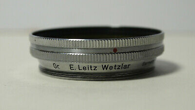 Leica Green Filter for 5cm F2 Summitar lens with Rotating Bezel