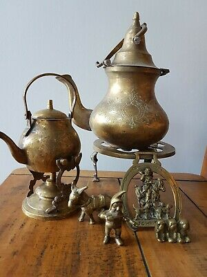 Job Lot Antique And Vintage Brass Metal Ware Items