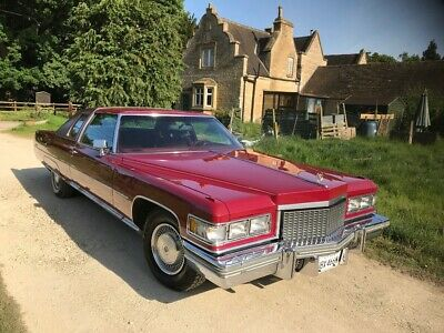 Firethorn Red Cadilac Coupe De Ville 1975 Museum Quality condition only33k miles