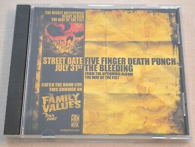 Five Finger Death Punch 'The Bleeding' Radio Single CD, 2007 The Way of the Fist