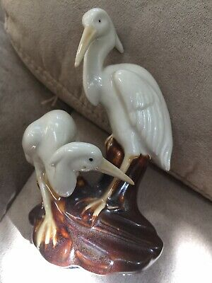 Vintage Heron Cranes Figurine Very Good Condition 4""