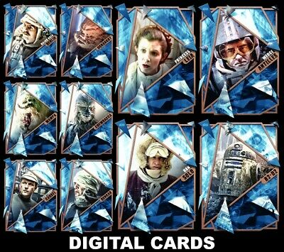 Topps Star Wars Card Trader FRACTURED EMPIRE STRIKES BACK [10 CARD BRONZE SET]