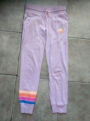 Converse lilac rainbow stripes tracksuit bottom Girls age 10-12 years
